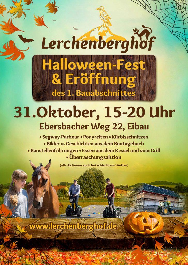Halloween-Fest und Eröffnung des 1. Bauabschnitts auf dem Lerchenberghof | 31. Oktober 2020